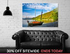 Discover «Small boat on the shore of Lake Wakatipu, NZ», Numbered Edition Acrylic Glass Print by Daniela Constantinescu - From $85 - Curioos