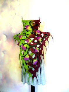 Hand felted poncho. #witchclothing #witchcostume #renaissancecostume #renaissancefestival #strega #fairytale #fantasyclothing #fantasycostume Elf Cosplay, Elf Costume, Purple Scarves, Elf Hat, Wool Poncho, Fantasy Costumes, Wet Felting, Mulberry Silk, Wool Felt