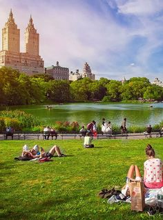 Summer in Central Park - but any season is great there... one of my favorite spots in the city.