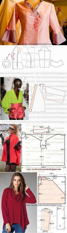 Блузки +выкройка.(4часть) | Шитье | Постила