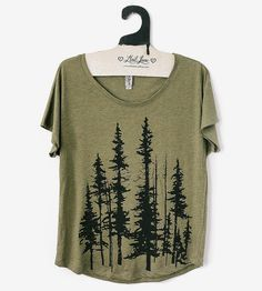 Evergreen DOLMAN SLEEVE T-SHIRT by Mad Love
