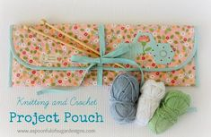 Quilted Knitting and Crochet Project Pouch - Free Sewing Tutorial