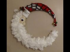 This is a different kind of wreath for me! Made with all Dollar Tree items (except for the scrap of felt)! The list of materials are: 1 14 in wreath form 1 p. Homemade Christmas Wreaths, Christmas Crafts, Christmas Decorations, Christmas Activities, Holiday Decorating, Christmas Ideas, Christmas Ornaments, Easy Fall Wreaths, How To Make Wreaths