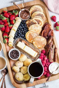 Pancake Charcuterie Board Valentina s Corner Pancake Charcuterie Board Valentina s Corner Thalia Stamatelos tstamatelos Christmas Cooking Easy breakfast pancake charcuterie board The charcuterie platter is nbsp hellip Board for one food recipes chicken Tasty Pancakes, Homemade Pancakes, Breakfast Pancakes, Fluffy Pancakes, Homemade Breakfast, Charcuterie And Cheese Board, Charcuterie Platter, Sausage Platter, Charcuterie Display