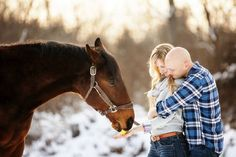 Winter Engagement photos with horses Horse Engagement Photos, Horse Wedding Photos, Winter Engagement Pictures, Winter Pictures, Couple Pictures, Family Pictures, Engagement Photography, Wedding Photography, Pre Wedding Photoshoot