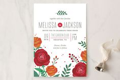 Bold Florals Wedding Invitations by Kristen Smith at minted.com