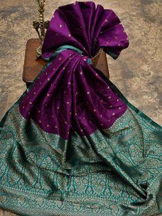 Sacred Weaves - Shop for Exquisite Banarasi Sarees Online Indian Silk Sarees, Soft Silk Sarees, Wedding Saree Collection, Sari Design, Sari Dress, Simple Sarees, Saree Trends, Saree Models, Tussar Silk Saree