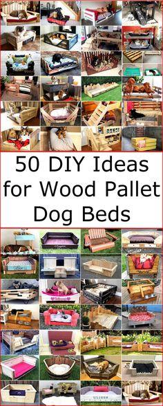 50 DIY Ideas for Wood Pallet Dog Beds