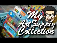 Join me as I show my Art Material collection! This'll be loads of fun! Art Supplies, Channel, Arts And Crafts, My Arts, Drawings, Youtube, Fun, Collection, Sketches