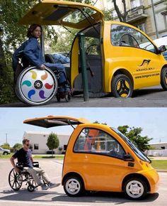 Wheelchair accessible car.