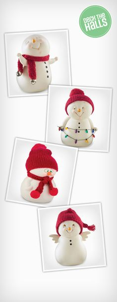 Frosty isn't the only snowman around! These little Snowpinion figurines will warm everyone's hearts this holiday with how adorable they are. Christmas Tree Themes, Christmas Ornaments, Holiday Decor, Canada Shopping, Winter Christmas, Online Furniture, Snowmen, Mattress, Wonderland