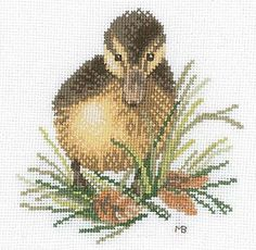 Duckling Cross Stitch Kit By Marjolein Bastin for Lanarte
