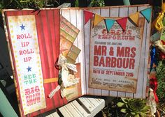 Carnival or Circus themed Wedding Guest Book