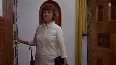 Jeanne Moreau in Truffaut's The Bride Wore Black (1968) #jeannemoreau #truffaut #thebrideworeblack #blackandwhite