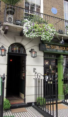 "Baker street 221b (in reality that's actually 237-241 Baker Street, a.k.a. ""The Sherlock Holmes Museum""); at the time Sherlock Holmes was written, Baker Street did not extend beyond Marylebone Road and street numbers did not go beyond 200"