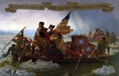 George Washington's crossing of the Delaware River, which occurred on the night of December 25–26, 1776, during the American Revolutionary War, was the first move in a surprise attack organized by George Washington against the Hessian forces in Trenton, New Jersey, on the morning of December 26. This is the returning trip for the victory celebration.  🇺🇸🥇🥇🥇🥇🥇🥇🥈🥈🥈🥈🇺🇸 #georgewashington #trenton #newjersey #heroesvodka