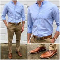 Moda casual hombre outfits khakis 50 Best ideas Source by Chinos Men Outfit, Khaki Pants Outfit, Khaki Shirt, Men's Pants, Blue Shirt Outfit Men, Navy Blazer Outfits, Men Shirt, Business Casual Men, Men Casual