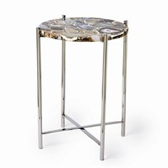 1000 images about trend alert natural stones on for Geode side table