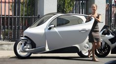 """Now imagine a vehicle that's smaller than a Smart Car, nearly a third of the price of a Nissan Leaf, safer than a motorcycle with a range capacity that just lets you drive and won't ever tip over? What you get is Lit Motors' C-1, the world's first gyroscopically stabilized, two-wheeled all-electric vehicle. Oh, and it will talk to your smartphone and the cloud."""