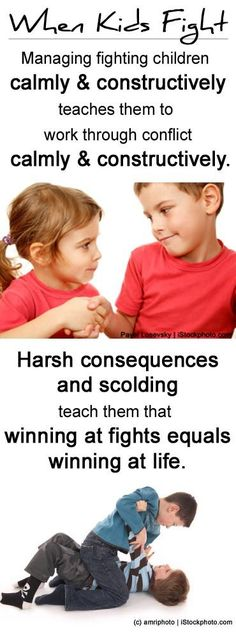 When kids fight, model good conflict resolution!