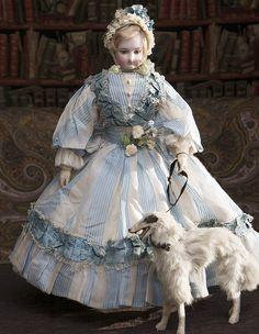 17 1/2 in (44 cm) Wonderful Antique French Fashion Bru Doll with wooden Body