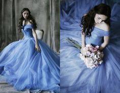 20 Swoonworthy Unconventional Wedding Dresses like No Other Blue Wedding Dresses, Wedding Gowns, Prom Dresses, Dress Prom, Gown Dress, Wedding Blue, Dress Lace, Trendy Wedding, Unconventional Wedding Dress