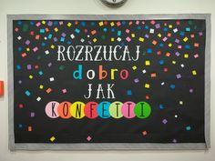 tablica dekoracyjna Classroom Decor, Motto, Montessori, Presents, Activities, Education, School, Crafts, Diy