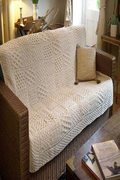Irish Throw Blanket Aran Throw Blanket Merino Wool measures x approx is made up of traditional patchwork Irish Knitwear Aran Knitwear Knitted Afghans, Knitted Blankets, Merino Wool Blanket, Wool Throws, Plush Blankets, Patchwork Blanket, Patchwork Patterns, Loom Patterns, Scandinavian Style