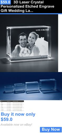 Home Decor: 3D Laser Crystal Personalized Etched Engrave Gift Wedding Landscape Shape BUY IT NOW ONLY: $59.0