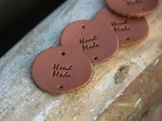 Tags, Handmade, Leather Label, Hand Made, Craft