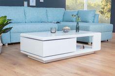 Konferenčný stolík Fortuna 120 cm biely Puff Quilt, Wicker Mirror, Decoration, Hammock, Duvet, Cabinet, Storage, Interior, Furniture