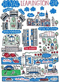 Royal Leamington Spa Art Print by Julia Gash Weekend Breaks Uk, Happiest Places To Live, Spa Art, Wallpaper Paste, Happy Fall Y'all, My Town, Train Station, Personalized Gifts, Folk
