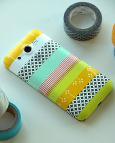 DIY: Masking tape phone cover