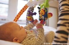 Here are the best baby toys {month by month} for baby development
