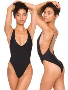 Black padded high waisted low back bathing suit Wonderful black one piece bathing suit with high cut waist and low cut back. This sexy monokini is padded! Brand new unused! Other sizes and colors available in my closet. Swim One Pieces Corps Parfait, Summer Outfits, Cute Outfits, Trendy Swimwear, Womens Bodysuit, Lingerie, Models, Monokini, Look Cool