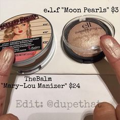 """TheBalm Mary-Lou Manizer Dupes - e.f Baked Highlighter in """"Moon Pearls"""" Makeup Goals, Love Makeup, Makeup Inspo, Makeup Inspiration, Makeup Tips, Makeup Products, Buy Makeup, Drugstore Makeup Dupes, Beauty Dupes"""