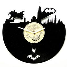 Modern vinyl clock wall clocks batman  por secondlifeforvinyl