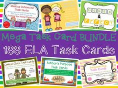 Thanksgiving Task Card Giveaway - To show you my thanks, I'm giving away 2 sets of my task card bundles!.  A GIVEAWAY promotion for Task Cards Bundle 188 Cards! from The 4th Grade Journey on TeachersNotebook.com (ends on 11-26-2014)