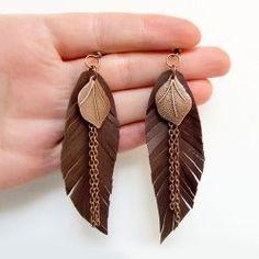 diy feather earrings nahasta