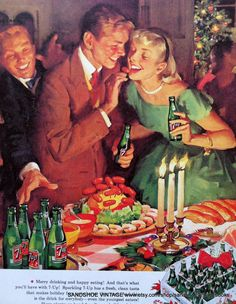 1950s SEVEN UP SODA Advertisement Ideal by sandshoevintageprint