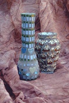 Mosaic vases by Donna Avery  Photo by Ron Avery