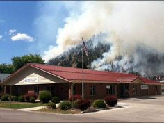 Employees of the Superior, MT, Post Office had an up-close view of nature at its most destructive as the West Mullan wildfire wreaked havoc in far western Montana. Big Sky Country, Post Office, Destruction, Montana, Buildings, Fire, House Styles, Nature, Flathead Lake Montana