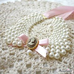 Wooflink Beth Pearl Dog Necklace