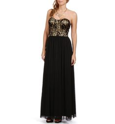 Black/Nude Prom Dress