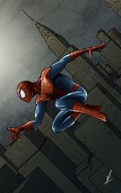 #Spiderman #Fan #Art. (Spiderman) By: MarceloBZ. (THE * 5 * STÅR * ÅWARD * OF: * AW YEAH, IT'S MAJOR ÅWESOMENESS!!!™)[THANK Ü 4 PINNING!!!<·><]<©>ÅÅÅ+(OB4E)