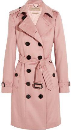 Burberry London - The Sandringham Cashmere Trench Coat - Blush