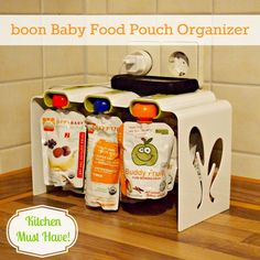 Cat Smith Baby Food Pouch Organizer - would be perfect for the fridge to store those filled Infantino pouches from the new Fresh Squeezed line. Buddy Fruits, Baby Gadgets, Kitchen Must Haves, Sleepy Cat, Baby Kids, Baby Boy, Getting Organized, Future Baby, Kids And Parenting