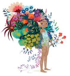 Flower girl illustration