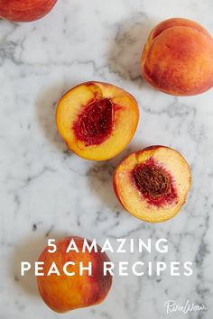 5 Unexpected Peach Recipes You Need in Your Life via @PureWow
