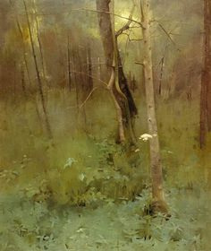 Thomas Millie Dow. At the Edge of the Wood.